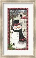 Farmhouse Snowman Fine Art Print