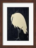 Egret in the Rain, 1925-1936 Fine Art Print