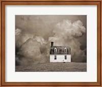 Lone House in Brown Fine Art Print