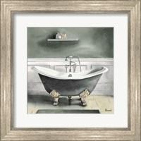 Smoky Gray Bath I Fine Art Print