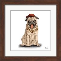 Pugs in Hats I Fine Art Print