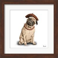 Pugs in Hats IV Fine Art Print