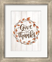 Give Thanks Wreath Fine Art Print