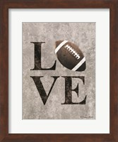 LOVE Football Fine Art Print
