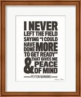 Peyton Manning Quote Fine Art Print