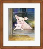 Farm Family Pigs Fine Art Print