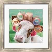 Cow in Curlers Fine Art Print