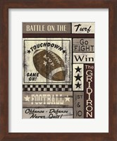 Football Game On Fine Art Print