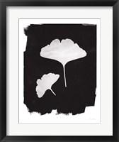 Nature by the Lake Gingko II Black Fine Art Print
