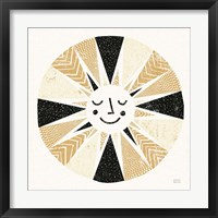 Sunshine Black Gold Sq Fine Art Print