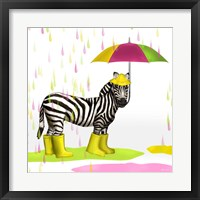 Raindrops Safari Zebra Fine Art Print