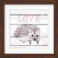 Hedgehog Love Fine Art Print