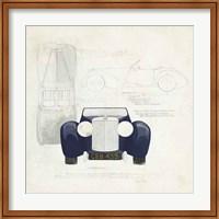 Roadster II Blue Car Fine Art Print