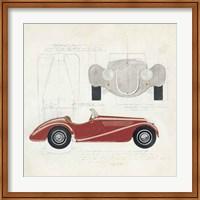 Roadster I Red Car Fine Art Print