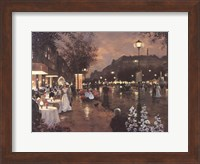 Evening Street Scene Fine Art Print