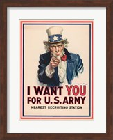 Uncle Sam, I Want You for the U.S. Army, 1917 Fine Art Print