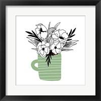 Green Flower Mug Fine Art Print