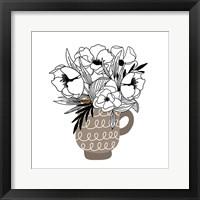Gray Flower Mug Fine Art Print