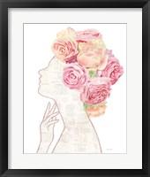 She Dreams of Roses II Gold Fine Art Print