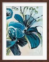 Flowers of Azure I Fine Art Print
