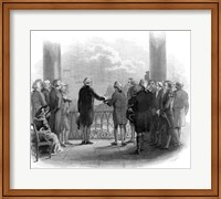 1789 Inauguration Of George Washington As First President Of The USA Fine Art Print