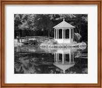 Gazebo Reflected In Pond Seaville NJ Fine Art Print