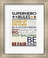 Superhero Rules Fine Art Print