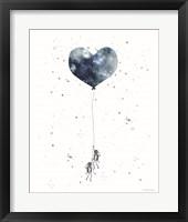 Heart on Balloon Fine Art Print