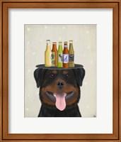 Rottweiler Beer Lover Fine Art Print