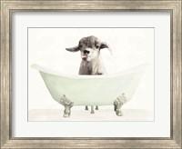 Vintage Tub with Goat Fine Art Print