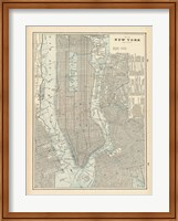 New York City Map Fine Art Print