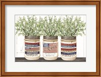 Patriotic Glass Jar Trio I Fine Art Print