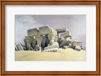 Ruins of the Temple of Kom Ombo, 19th century Fine Art Print