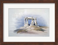 Temple of Wady Kardassy, Nubia, 19th century Fine Art Print