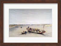 The Nile looking towards the Pyramids of Dahshur and Saqqarah, 19th century Fine Art Print