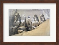 Front Elevation of the Great Temple of Abu Simbel, Nubia, 19th century Fine Art Print