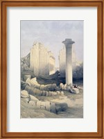 The Dromos or Central Hall of the Great Temple of Amun, Karnak, 19th century Fine Art Print