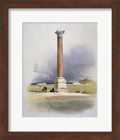 Pompeys Pillar, Alexandria, 19th century Fine Art Print