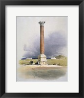 Pompeys Pillar, Alexandria, 19th century Fine Art Print