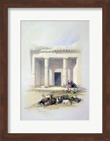 Entrance to the Cave of Beni Hassan, 19th century Fine Art Print
