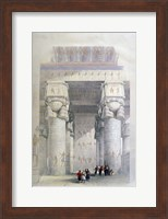 Portico of the Temple of Dendera, 19th century Fine Art Print