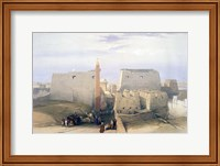 Grand Entrance to the Temple of Luxor, 19th century Fine Art Print