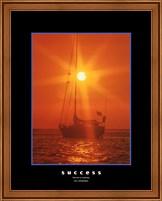 Success - orange sunset Fine Art Print