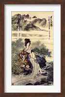 Lady With Tiger Fine Art Print