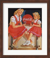 Coca-Cola Young Girls Fine Art Print