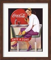 Coca-Cola Lady in Purple Fine Art Print