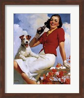 Coca-Cola Lady with Dog Fine Art Print