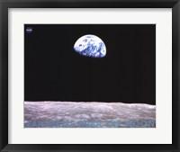 Earthrise Over the Moon Fine Art Print