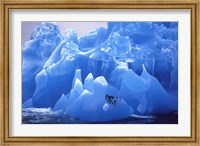 Penguins on Blue Ice Fine Art Print