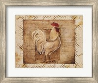 Rustic Farmhouse Rooster I Fine Art Print